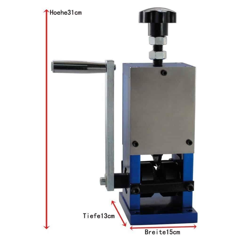 zur R/ückgewinnung von Kupfer Kabelsch/älmaschine Abisolierwerkzeug